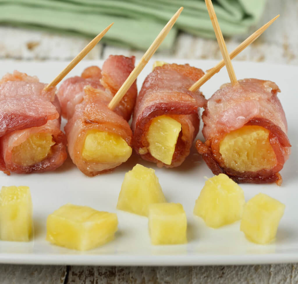 Bacon And Pineapple Appetizer Rolls