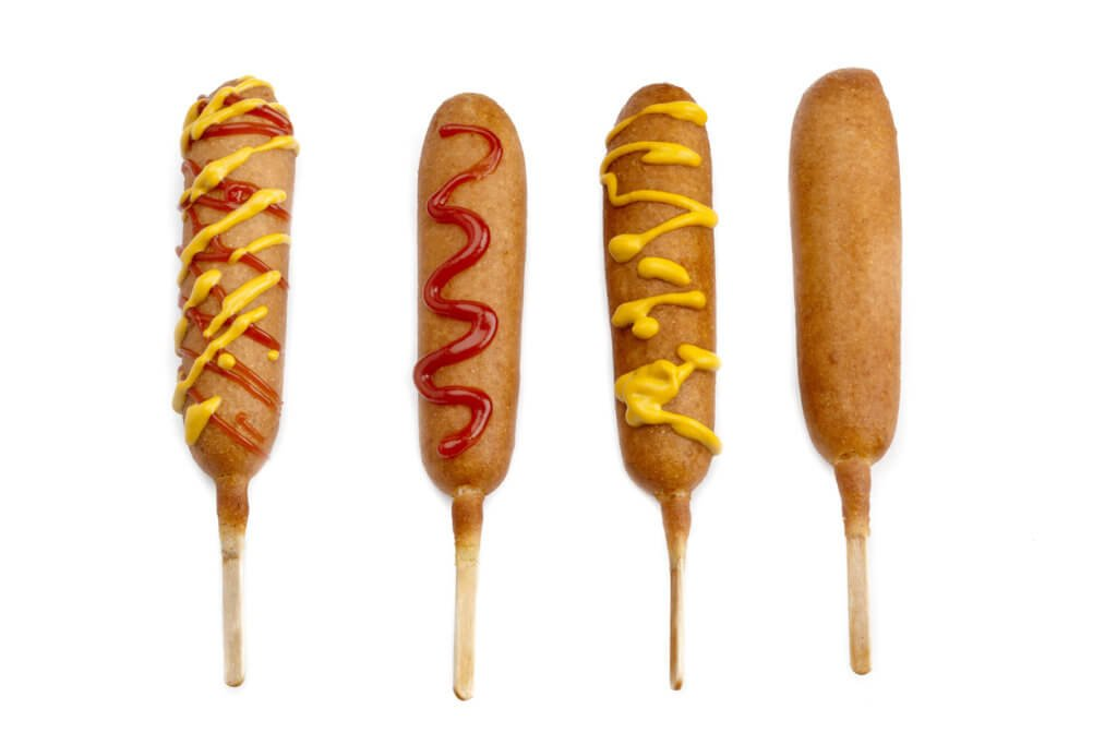 corndog with different toppings