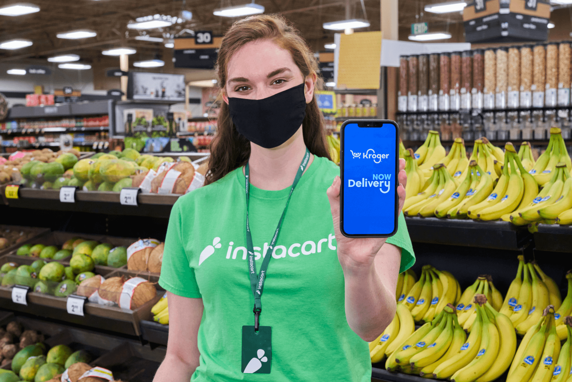 """Kroger and Instacart Launch """"Kroger Delivery Now"""" Nationwide to Provide 30-Minute Delivery Enabled by First-of-its-kind Virtual Convenience Store"""