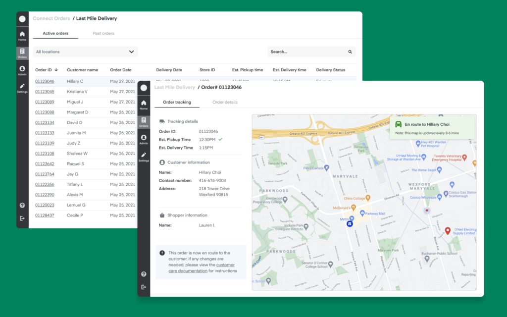 Instacart's Last Mile Delivery operations dashboard
